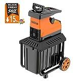 TACKLIFE 【Black Friday Woche】 Gartenhäcksler, Elektrischer Walzenhäcksler 2800W, Max. 45mm Aststärke mit 60 L robuste Auffangbox Ideal für den Heim- und Gartengebrauch, PWS01A