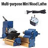 OUKANING Drechselbank Mini Multifunktion Holz Metall Drehmaschine 2000rpm Mini Wood Lathe Machine