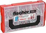 fischer FIXtainer - Dübelbox mit DUOPOWER Universaldübel Sortiment - Für zahlreiche Baustoffe und vielfältige Anwendungen - DUOPOWER 6 x 30, 8 x 40, 10 x 50 - 210 Teile - Art.-Nr. 535968