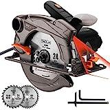 TACKLIFE PES01A, Handkreissäge mit Laser, 1500W, 50Hz,4500rpm, Einstellbare Schnitttiefe 0-45mm