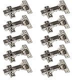 10 x SO-TECH Topfband Topfbänder T45 Eckanschlag mit Dämpfer + Kreuzplatte Scharnier Scharniere Topfscharniere (Einzeln und als 6er, 10er, 20er oder 30er Set erhältlich!)