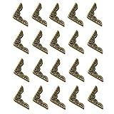 Schutzecke,Kantendekor für Bücher 21x4mm Bronze Buchbeschlag Buchecke Metallecke Schutzecke Antikbeschlag 20 Stück.