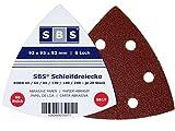 SBS Klett-Schleifdreiecke 93x93x93 Delta 50 Stück verschiedene Körnungen (60 Stück Mix Pack je 10x pro Korn)