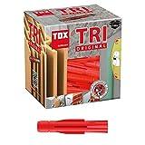 TOX Allzweckdübel Tri 5 x 31 mm, Dübel für fast alle Baustoffe, 100 Stück, 010100021